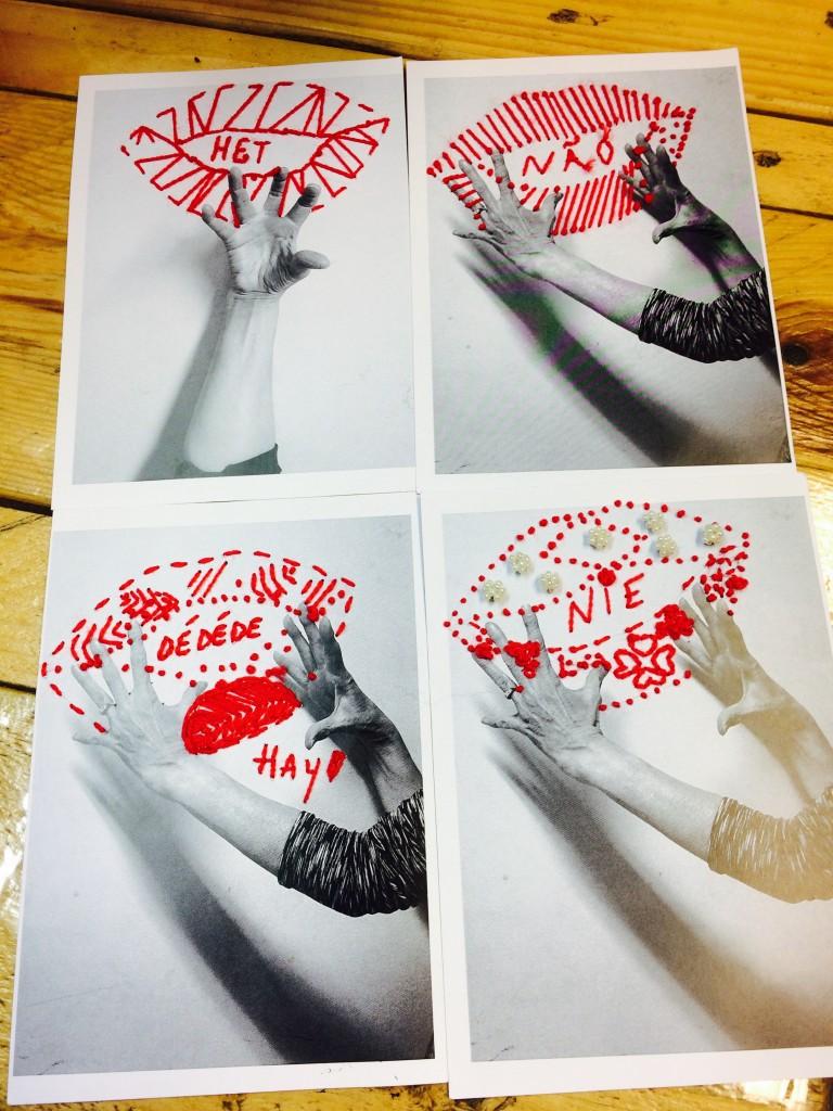 venez confectionner des broderies sur carte postale  les fêtes arrivant  petite idée cadeaux  do it yourself ;)